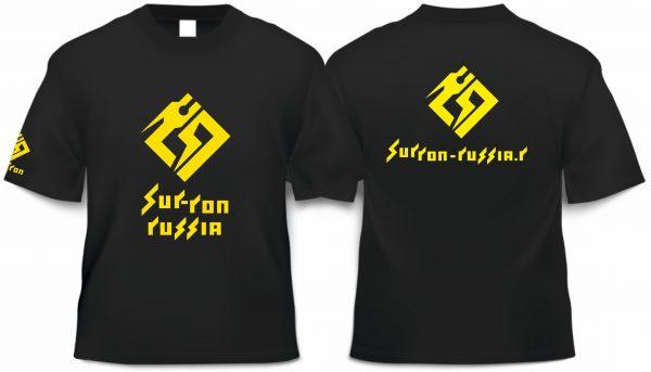 Футболка с логотипом Surron размер L (черная)